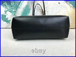 $1450 FENDI Black Leather Monster Eyes Roll Shopping Tote Bag SALE! Zip Top