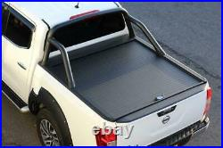Armadillo Roll Top Cover for Nissan Navara NP300 with Black Roll Bar