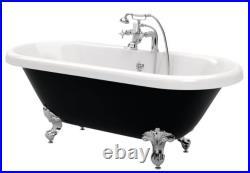 Bathrooms To Love Richmond Freestanding Black Bath With Chrome Feet