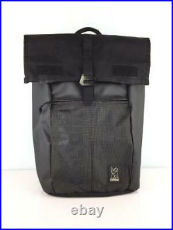 CHROME Roll Top Black Fashion Back Pack 288 From Japan