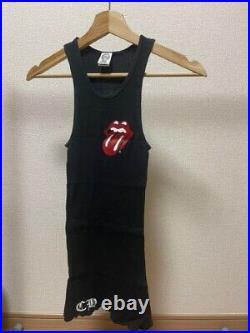 Chrome Hearts Tank Top Rolling Stones Printed Black Size S Near Mint JP I16665