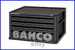 DAMAGEDBahco 1482K4BLACK E82 4 Drawer Top Chest Tool Box for E72 Roll Cabs Black