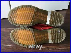 Dr Martens Triumph Aimilita Red Leather Boots. Size 6 EU 39 Black Floral Lining