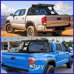 For 2004-2020 Colorado Canyon Truck Bed Top Rack Roll Bar + Luggage Carrier Box
