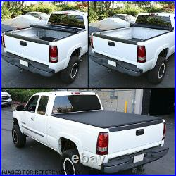 For 2005-2015 Toyota Tacoma 6 Ft Fleetside Bed Soft Top Roll-up Tonneau Cover