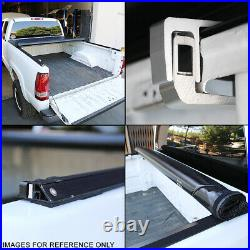 For 2016-2018 Toyota Tacoma 6 Ft Short Bed Truck Soft Top Roll-up Tonneau Cover