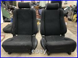 Ford Escort MK2 RS2000 Mexico Black Roll Top Front Seats. Scheel Rs1800 Recaro