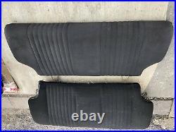 Ford Escort MK2 RS2000 Mexico Black Roll Top Rear Seats. Scheel Rs1800 Recaro