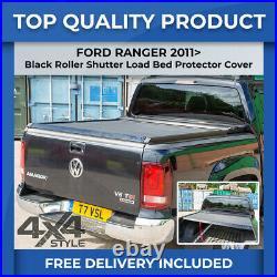 Ford Ranger Black Roll Top Hard Roller Shutter Load Bed Cover Lockable Tonneau