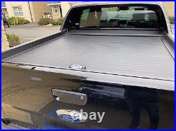Ford Ranger T6 Wildtrak Armadillo Roll Top Cover In Black