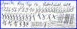 Gorgeous Superite Pen, Ring Top, Rolled Gold, Semi Flex 14k Fine Nib, USA