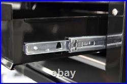 Husky 36 in. 3-Drawer Storage Rolling Tool Cart Steel Metal with Wood Top, Black