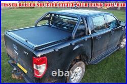 Isuzu Dmax Double Cab Tesser Roller Shutter Black Roll Top Tonneau Cover