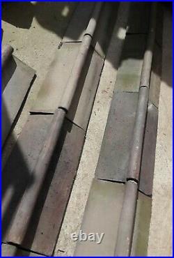 Joblot 11 Roll Top Ridge Tiles Blue/Black Reclaimed Original 130 Degree #RG90J