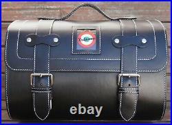 Medium Leather Top Case Roll Bag Vespa Primavera 946 LXV GTS GTV Vintage Black