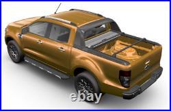 Mountain Top Roll Black Cross Bars- Ford Ranger Wildtrak Genuine Roller Shutter