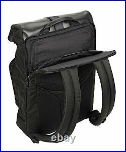 NEW Tumi Men's Alpha Bravo London Roll-Top Backpack, BLACK w Brown accents