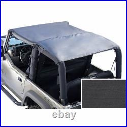 New For Jeep Cj7 Yj Wrangler 76-91 Roll Bar Top Black Denim X 13554.15