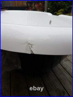 New roll top bath, slight damage on side, no feet. Collection only RG42 2QX