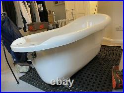 Oxford 1710 Roll Top Slipper Bath + Matt Black Leg Set and Taps (RRP £419.95)