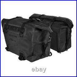 Oxford Aqua P32 Waterproof Motorcycle Panniers Roll Top Saddle Bags Black