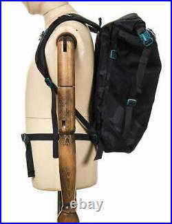 Patagonia Planing Roll Top Backpack 35L Tiger Tracks Camo Ink Black