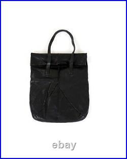 Pre-owned Boris Bidjan Saberi Hammered Leather Roll Top Messenger Bag Guidi