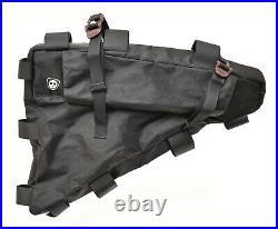 Rogue Panda Rolltop Frame Bag BLACK Waterproof Bikepacking Adventure Gravel YKK