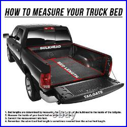Roll-up Truck Bed Top Soft Tonneau Cover For 16-21 Toyota Tacoma 5ft Fleetside