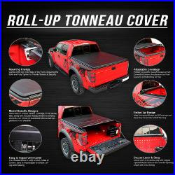 Roll-up Truck Bed Top Soft Tonneau Cover For 73-98 Ford F-series 6.5ft Fleetside