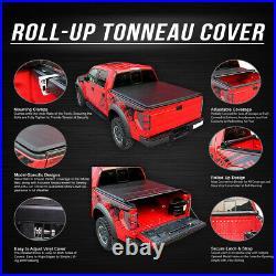 Roll-up Truck Bed Top Vinyl Soft Tonneau Cover For 02-18 Dodge Ram 8ft Fleetside