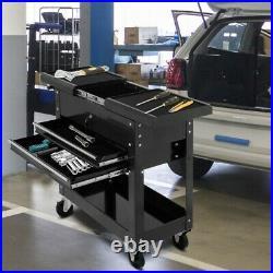 Rolling Mechanics Tool Cart Slide Top Utility Storage Cabinet Organizer 2 Drawe