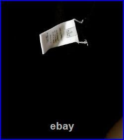 Rosetta Getty sz S black pure cashmere roll mock neck sweater top tunic dress