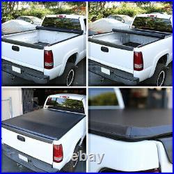 Short Bed Truck Tonneau Cover 6.5Ft Soft Top Roll-Up Fleetside for 04-14 F150