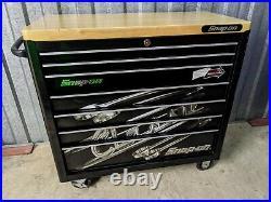 Snap On 40in KRA2107 Rollcab Tool Box Black Lock'N Roll + Butcher's Wood Top