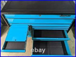 Snap On 55in KRL722 Masters Rollcab Tool Box Lock'N Roll + Armoured Top Teal