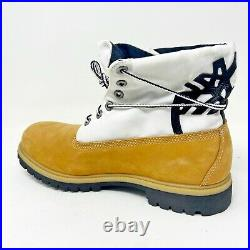 Timberland Mens 6 Inch Premium Waterproof Roll Top Boots Wheat Black 36003