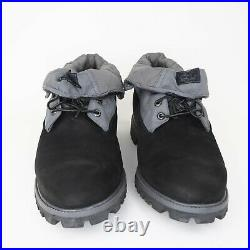 Timberland Roll Top Work Shirt Mens Boots 45003 Leather Blk Vintage SZ 14 Hiking