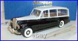 Top Marques 1/43 Scale RR14 Rolls Royce Phantom V Hearse 1959 Black / Grey