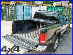Toyota Hilux Black Roll Top Hard Roller Shutter Load Bed Cover Lockable Tonneau