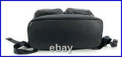Tumi Alpha Bravo London Roll Top Laptop Backpack Black Distressed Leather 932388