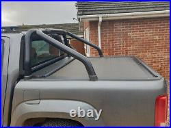 VW Amarok 2010-21 Roller Shutter & Black Roll Bar Roll Top Cover +Delivery