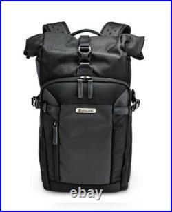Vanguard VEO Select 43 RB BK Black Roll Top Backpack Camera Bag New UK Stock