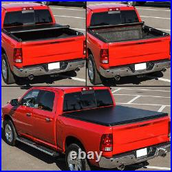 Vinyl Soft Top Roll-up Tonneau Cover For 2004-2014 Ford F150 6.5' Fleetside Bed