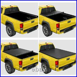 Vinyl Soft Top Roll-up Tonneau Cover for 02-18 Dodge Ram Truck Fleetside 8ft Bed