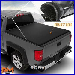 Vinyl Soft Top Roll-up Tonneau Cover for 04-15 Titan Fleetside 5'7 Truck Bed