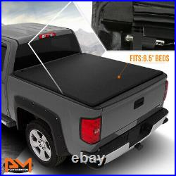 Vinyl Soft Top Roll-up Tonneau Cover for 73-98 Ford F-Series 6.5 Feet Short Bed