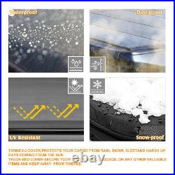 Vinyl Soft Top Roll-up Tonneau Cover for 88-01 Chevy/GMC C/K 6.5 Feet Short Bed